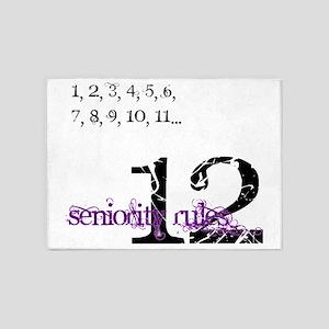 Seniority Rules 5'x7'Area Rug