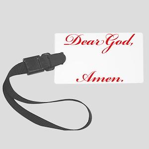 Dear God Focus Amen Large Luggage Tag