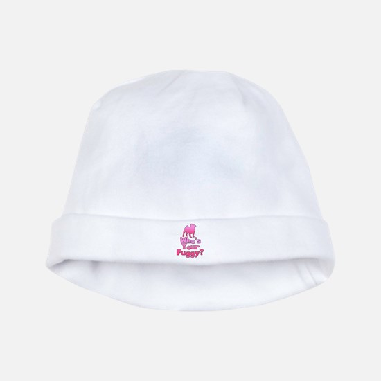 Who's your Puggy? (Pink) baby hat
