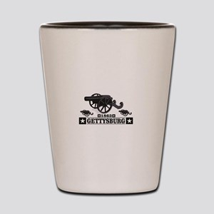 cannons of gettysburg Shot Glass