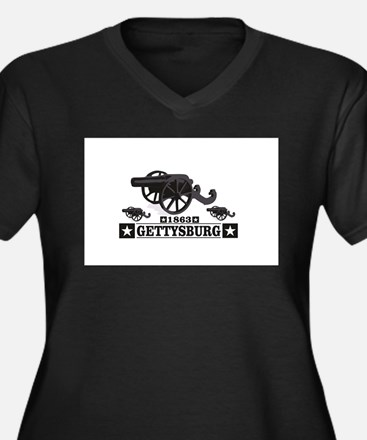 cannons of gettysburg Plus Size T-Shirt