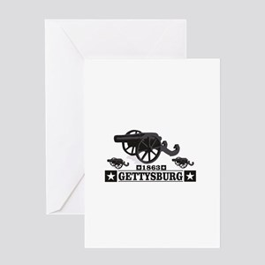 cannons of gettysburg Greeting Cards