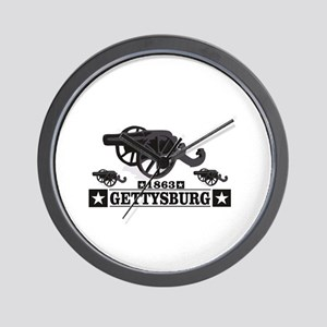 cannons of gettysburg Wall Clock