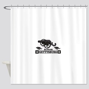 cannons of gettysburg Shower Curtain