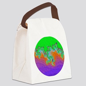 Painted Julia Set Fractal Canvas Lunch Bag