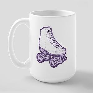 old skool skate purple Large Mug