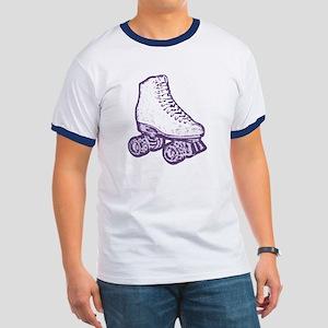 old skool skate purple Ringer T