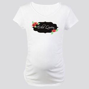 Echo Queen Poppies Maternity T-Shirt