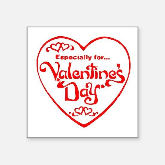 Red Valentines Day Heart Sticker