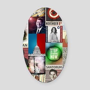 Conservatives Collage Oval Car Magnet