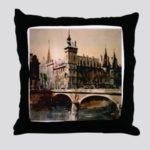 La Conciergerie, Paris, Franc Throw Pillow