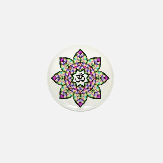Lotus Om Black Mini Button
