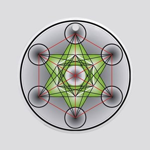 Metatron's Cube Round Ornament