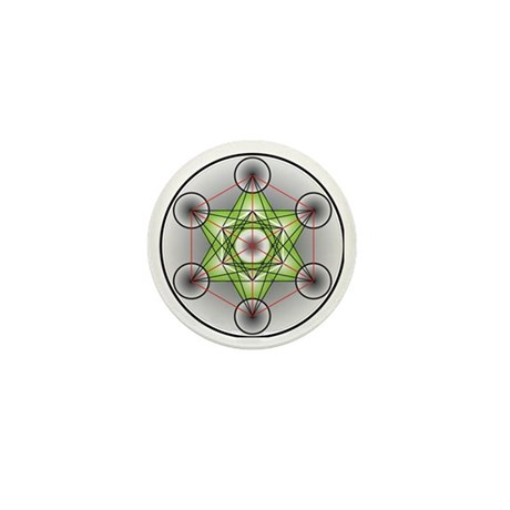 Metatron's Cube Mini Button