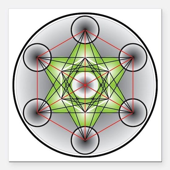 "Metatron's Cube Square Car Magnet 3"" x 3"""