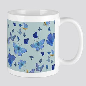 All over Butterfly on Blue Mug