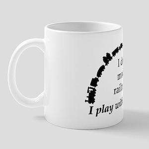 play with trains black Mug