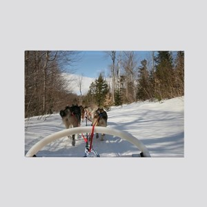 Dogsled View Rectangle Magnet
