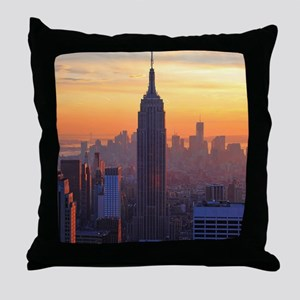 Empire State Building, NYC Skyline, O Throw Pillow