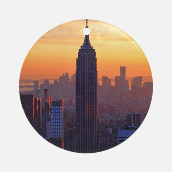 Empire State Building, NYC Skyline, Round Ornament
