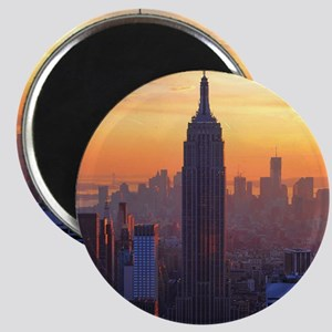 Empire State Building, NYC Skyline, Orange  Magnet