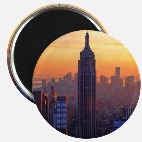 Empire State Building, NYC Skyline, Orange  Magnet