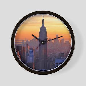 Empire State Building, NYC Skyline, Ora Wall Clock
