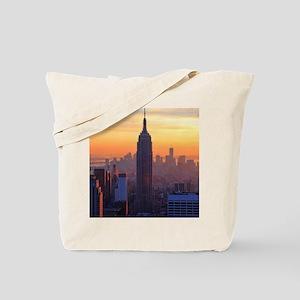 Empire State Building, NYC Skyline, Orang Tote Bag