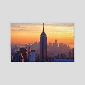 Orange Sunset, Empire State Buildin 3'x5' Area Rug