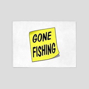 SIGN - FISHING 5'x7'Area Rug