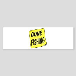 SIGN - FISHING Bumper Sticker