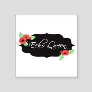 "Echo Queen Poppies Square Sticker 3"" x 3"""