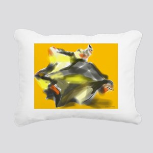 2D and 3D abstract and f Rectangular Canvas Pillow
