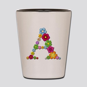 A Bright Flowers Shot Glass