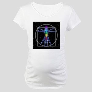 Vitruvian Spirit Woman Maternity T-Shirt