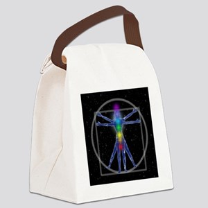 Vitruvian Spirit Woman Canvas Lunch Bag