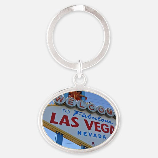 Las Vegas Oval Keychain