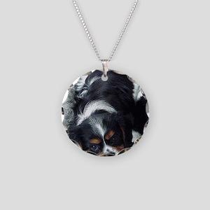 Cavalier King Charles Spanie Necklace Circle Charm