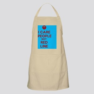 I-Care-People-Not-Red-Line Apron