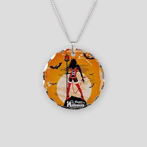 Halloween Vixen Necklace Circle Charm