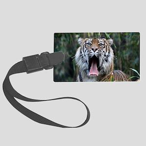 Love hunger Sumatran tiger Large Luggage Tag