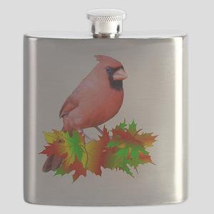 Fall Cardinal Flask