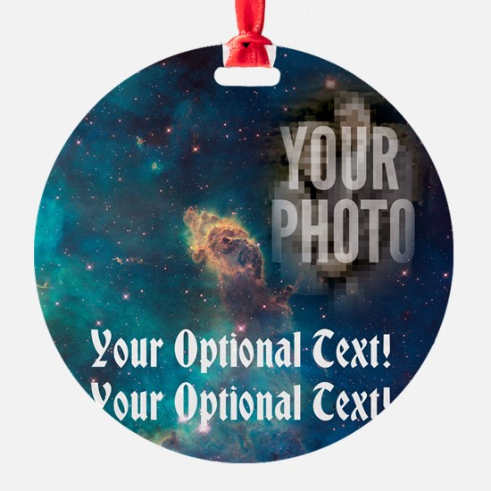 Your Face In Space CUSTOM PHOTO Ornament