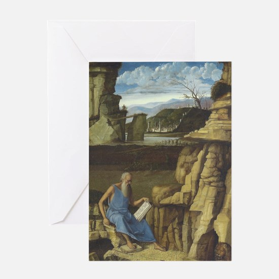 Saint Jerome and the Lion Greeting Card