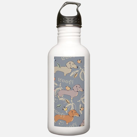 Cute Dachshunds Water Bottle