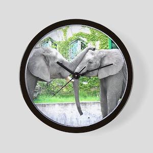 Love Kiss and hug elephants lovers Wall Clock