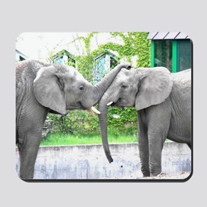Love Kiss and hug elephants lovers Mousepad