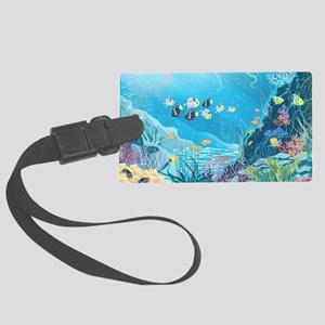 Tropical Reef Large Luggage Tag