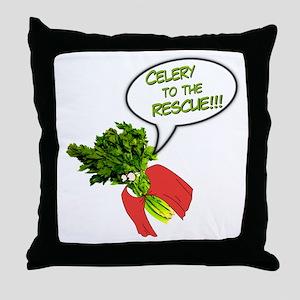 Celery to the Rescue! Throw Pillow