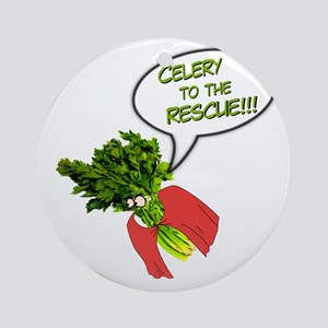 Celery to the Rescue! Round Ornament